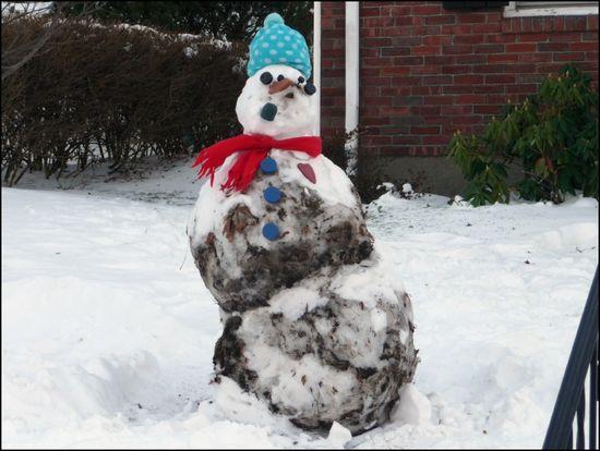 Dirty-snowman